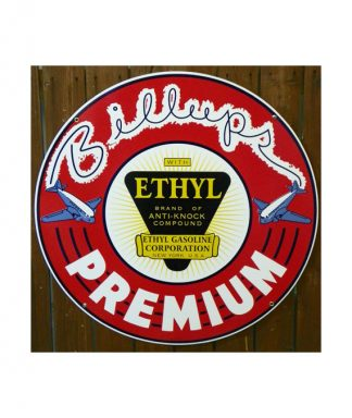 1930s-STYLE-BILLUPS-ETHYL-PREMIUM-GASOLINE-PORCELAIN-SIGN