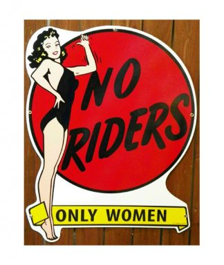 no-riders-pin-up-girl-sign