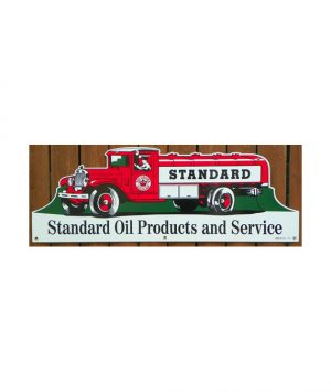 1930S-STYLE-STANDARD-RED-CROWN-GASOLINE-TANKER-TRUCK-PORCELAIN-DIECUT-SIGN