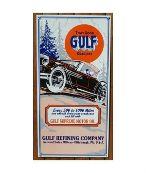 1920s-1930s-STYLE-THAT-GOOD-GULF-GULF-SUPREME-OIL-ROAD-MAP-PORTRAIT-PORCELAIN-SIGN