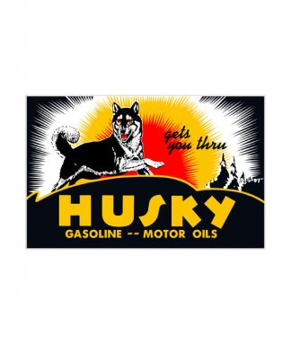 1930S-1940S-STYLE-HUSKY-GASOLINE-MOTOR-OIL-PORCELAIN-SIGN