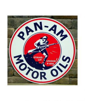 1930s-STYLE-PAN-AM-MOTOR-OILS-DOUGH-BOY-PORCELAIN-SIGN
