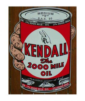 1940S-Style-KENDALL-1-QUART-MOTOR-OIL-CAN-IN-HAND-PORCELAIN-SIGN