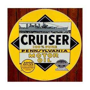 cruiser-100-pure-pennsylvania-motor-oil-sign