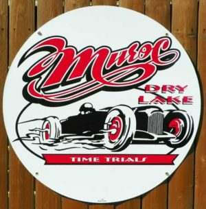 MUROC DRY LAKE TIME TRIALS REPRODUCED PORCELAIN SIGN 1