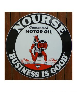 1930s-NOURSE-MOTOR-OIL-PORCELAIN-VIKING-SIGN