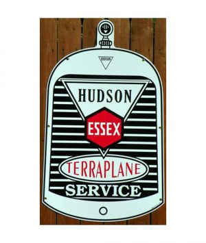 1920s-30s-STYLE-HUDSON-ESSEX-TERRAPLANE-SERVICE-RADIATOR-SHAPED-PORCELAIN-DEALERSHIP-SIGN