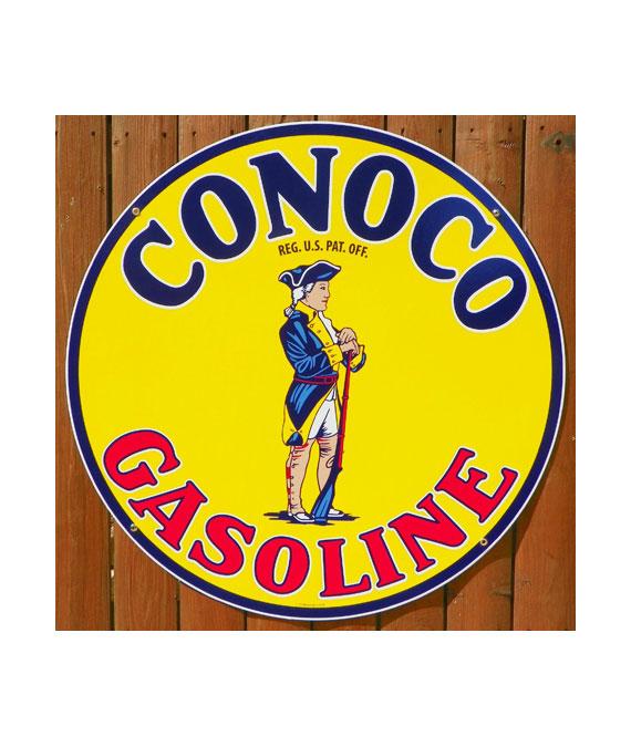 1930s-CONOCO-MINUTE-MAN-GASOLINE-PORCELAIN-SIGN