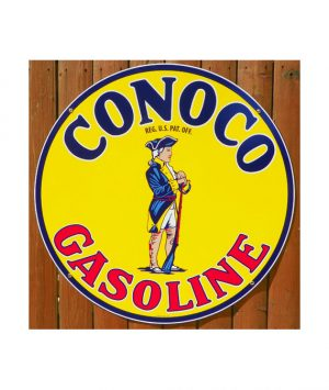 1930s-CONOCO-MINUTE-MAN-GASOLINE-PORCELAIN-SIGN