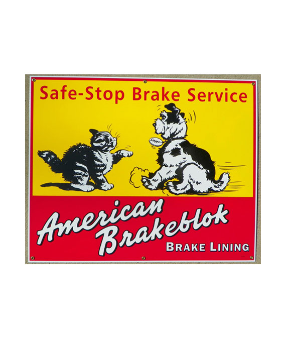 1940s-STYLE-AMERICAN-BRAKEBLOK-BRAKE-SERVICE-PORCELAIN-SIGN