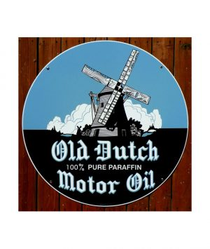 1940s-STYLE-OLD-DUTCH-MOTOR-OIL-WINDMILL-PORCELAIN-SIGN