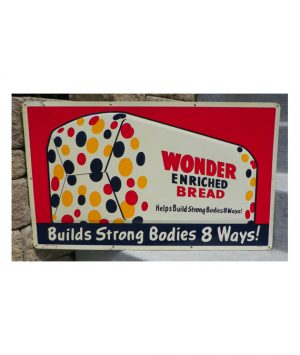 1950s-WONDER-ENRICHED-BREAD-LOAF-COUNTRY-STORE-EMBOSSED-SIGN