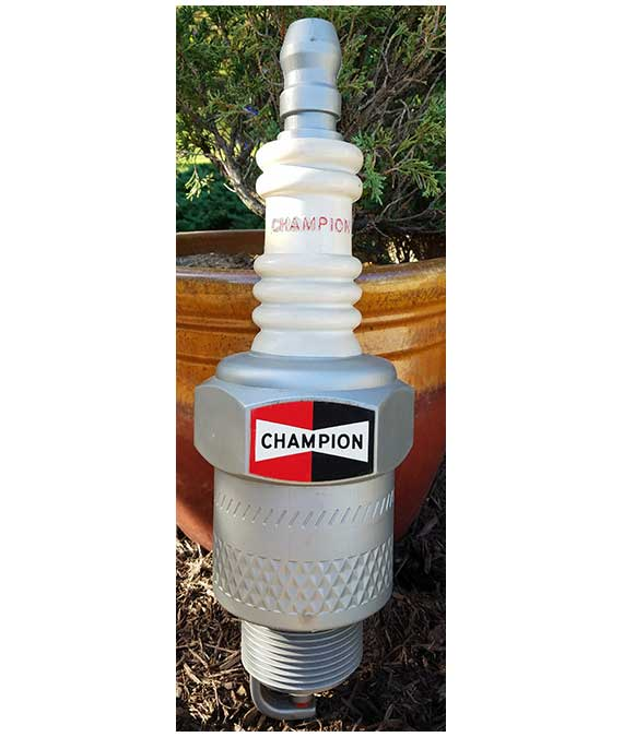 "1950's GIANT 23"" CHAMPION SPARK PLUG PROMO DISPLAY"