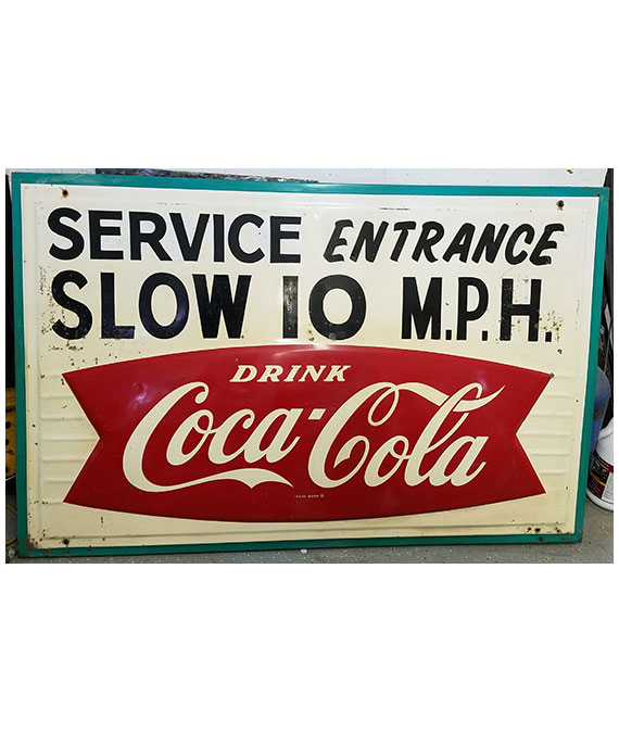 1959-COCA-COLA-FISHTAIL-SERVICE-ENTRANCE-SIGN