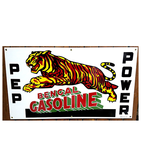 1940 BENGAL GASOLINE PORCELAIN SIGN