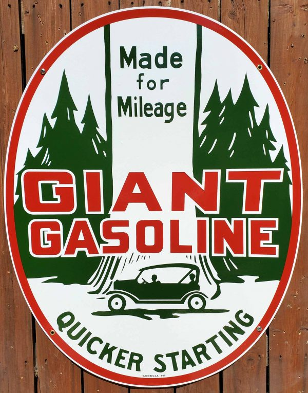 GIANT GASOLINE SIGN