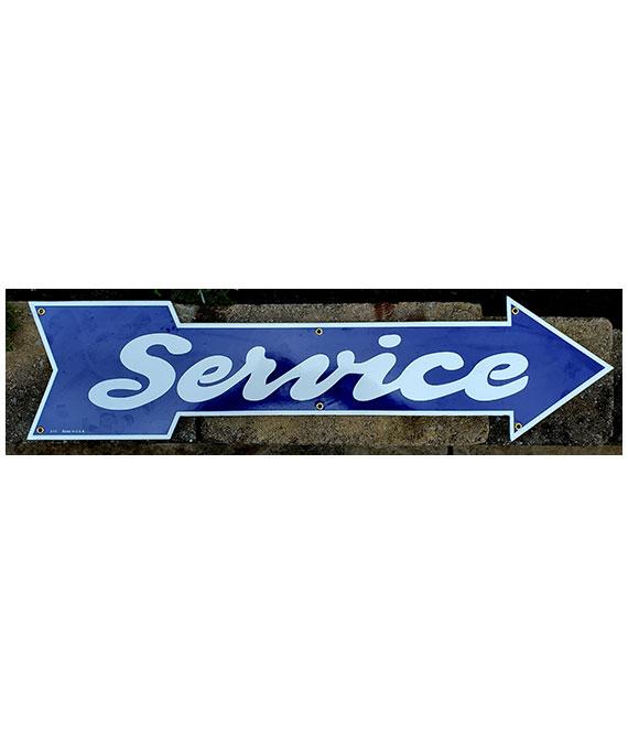 PORCELAIN-1940s-1950s-SERVICE-ARROW-DIE-CUT-SIGN