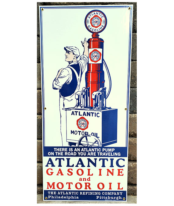 1920S-ATLANTIC-ARTWORK-ATLANTIC-GASOLINE-MOTOR-OIL-PORCELAIN-SIGN
