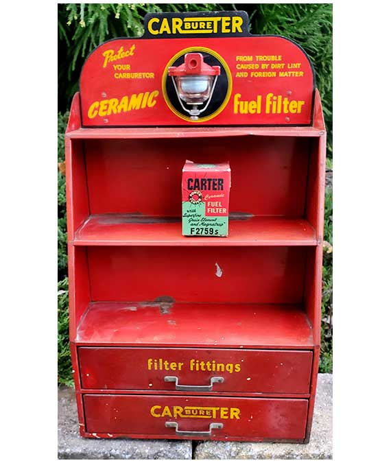 1940s–1950s-CARTER-CARBURETER-FUEL-FILTER-DISPLAY