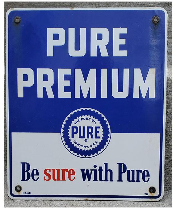 1948-PURE-PREMIUM-GAS-PORCELAIN-GAS-PUMP-SIGN